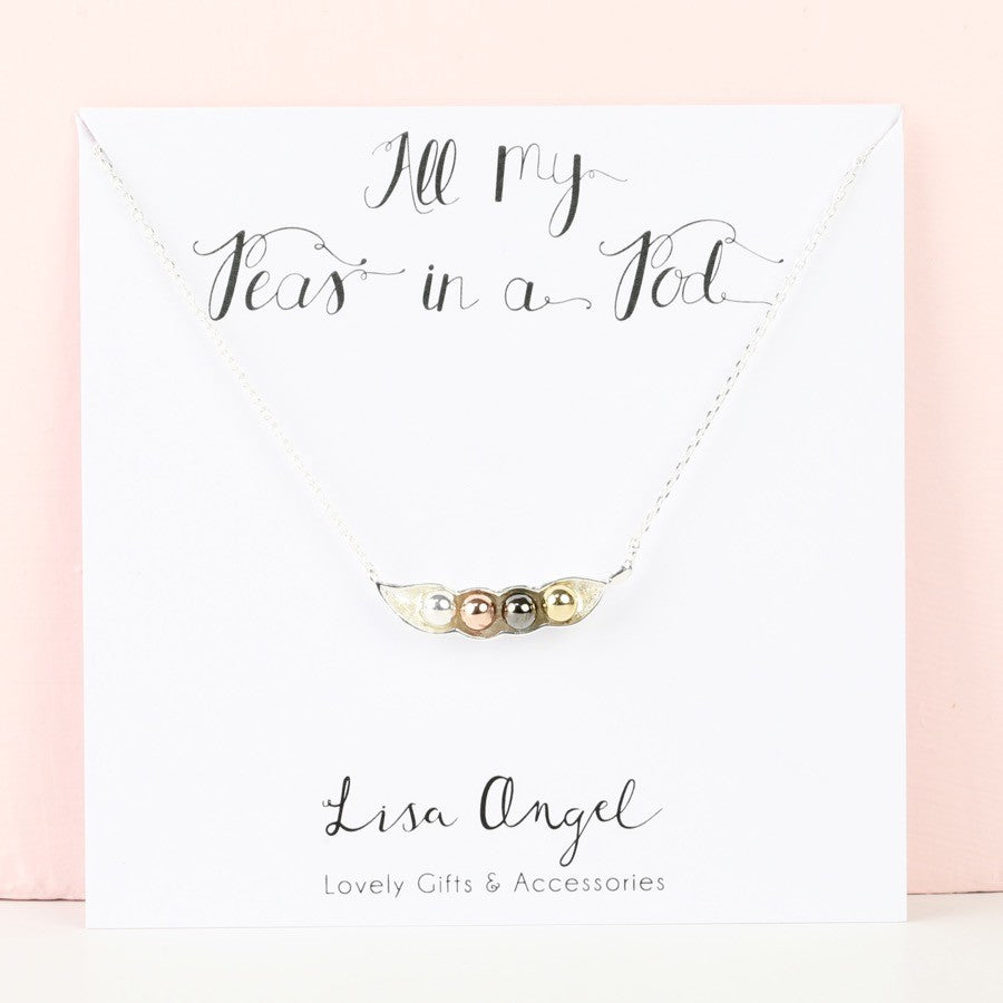 Four Peas In A Pod Necklace by Lisa Angel - Gifts~From~Dawn