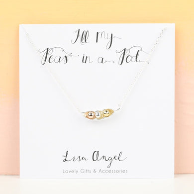 Three Peas In A Pod Necklace by Lisa Angel - Gifts~From~Dawn
