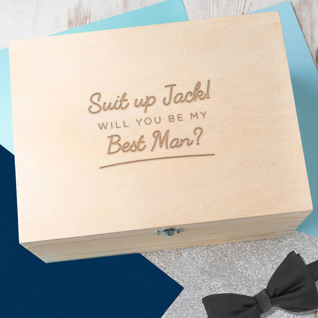 Personalised 'Will You Be My Best Man?' Keepsake Box - Gifts~From~Dawn