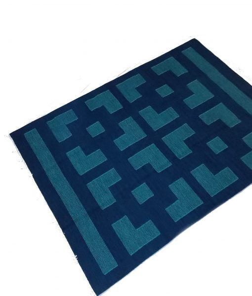 Geometric Blue Kilim - Sphinx Rugs