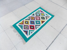 Multicolored Turquoise Kilim - Sphinx Rugs