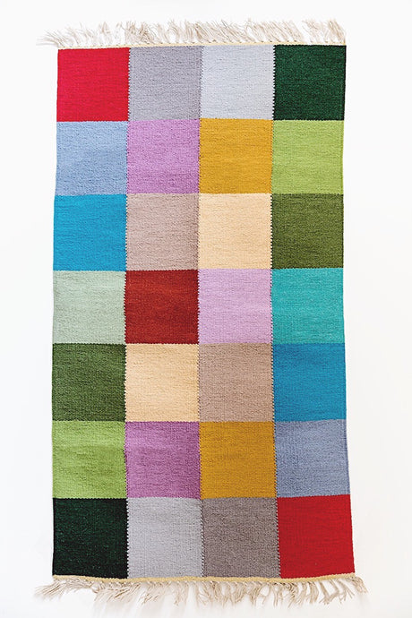 Modern Colorblock Handmade Wool Area Rug - Sphinx Rugs