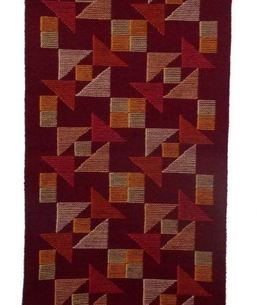 Geometric Red Handmade Wool Area Rug - Sphinx Rugs