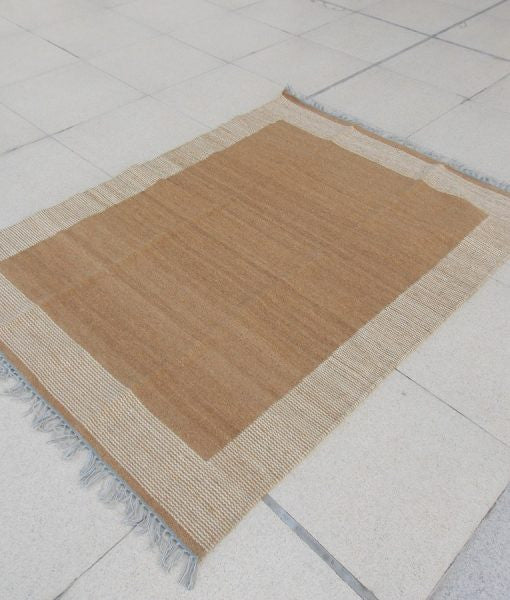 Natural Sheep Color Colorblock Kilim - Sphinx Rugs