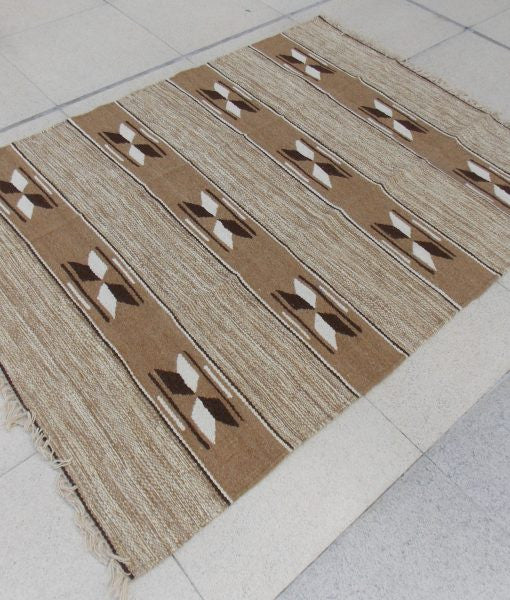 Natural Sheep Color Stripes Kilim - Sphinx Rugs