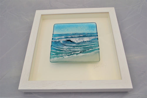 Glass Relief - Waves in a box