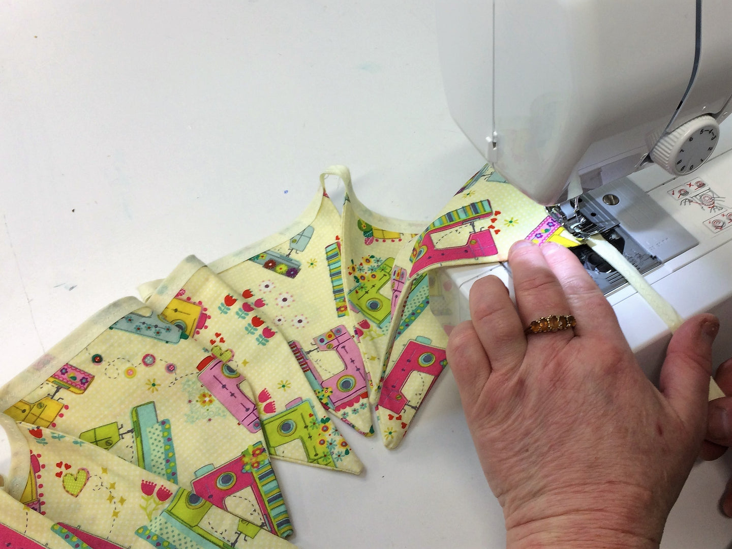 Learn to Sew Bunting -  7/7