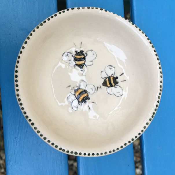 Little Bees  Circular Dishes