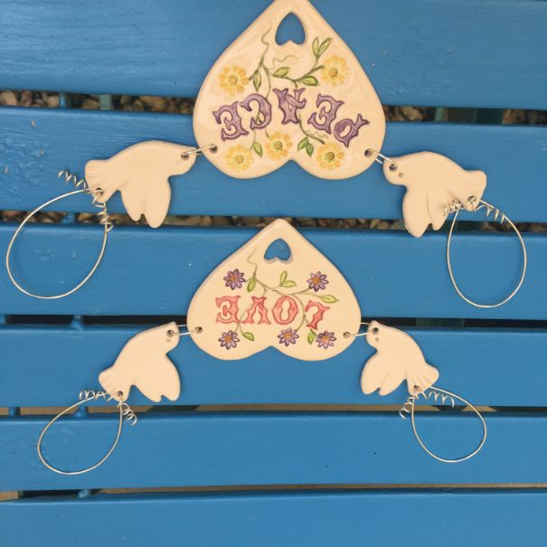 Heart & Dove Hangings