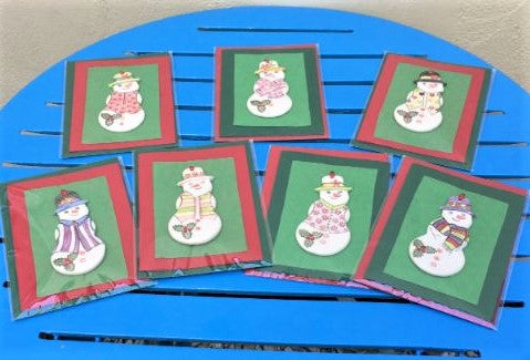 Snowman Decoration Christmas Cards
