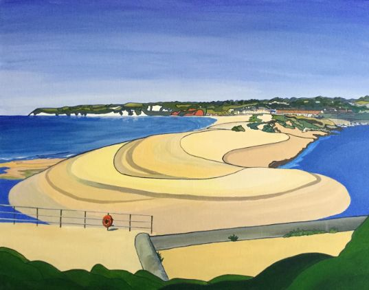 Axmouth Harbour towards Seaton - Annabel Glassby Prints