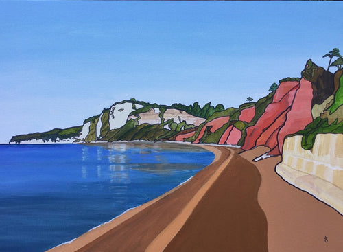 Towards Beer Head From Seaton - Annabel Glassby Prints