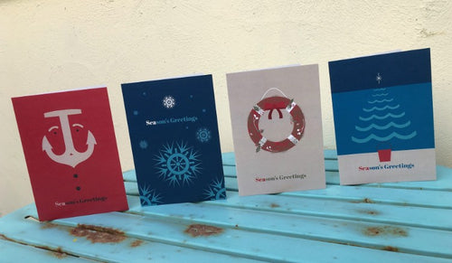 SEAsons Greetings Nautical Christmas Cards