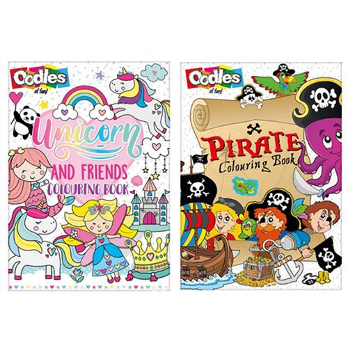 Colouring Books - Pirate & Unicorn