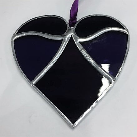 Devon Glass Studio Five Piece Heart