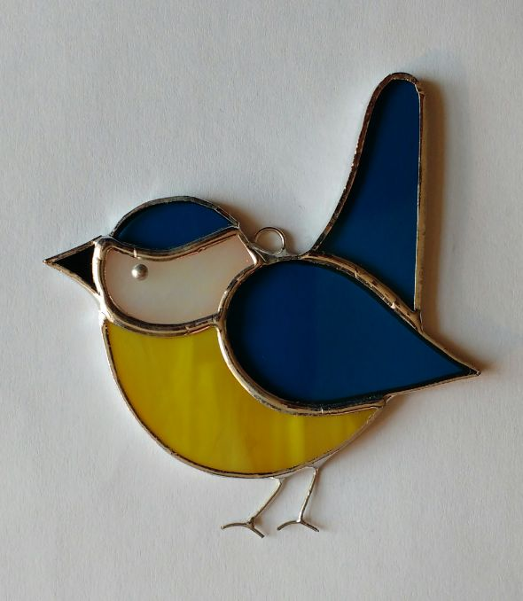 Devon Glass Studio Blue Tit