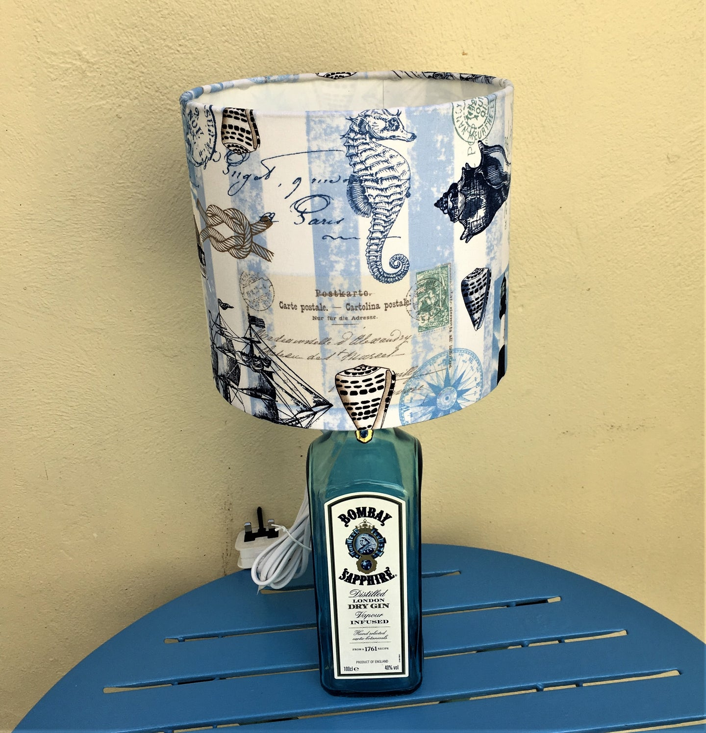 Nautical Gin Bottle Lamp