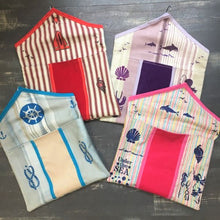 Handmade Beach Hut Peg Bags