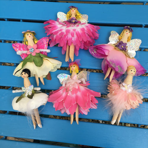 Jubes Originals Peg Dolls - fairies & mermaids