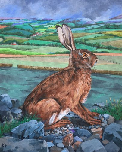 Keith Howard Original - Hare in a Landscape