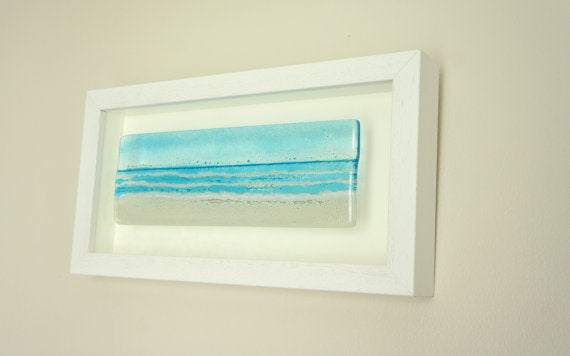 Glass Relief - Frames Landscape Beach Turquoise