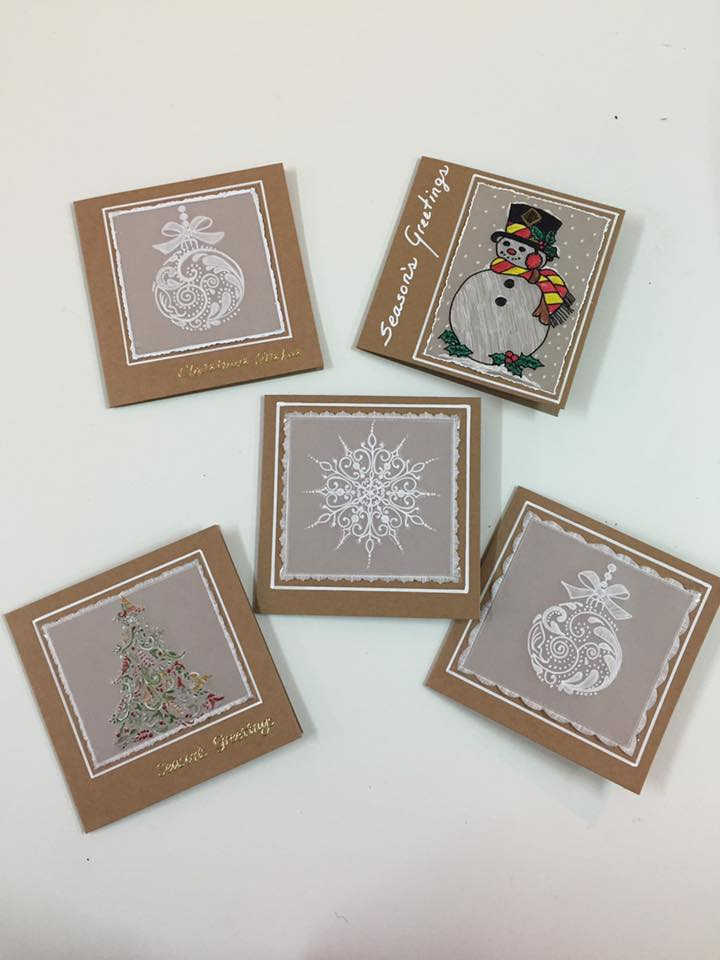 Parchment Craft Christmas Cards - 11/11 & 12/12