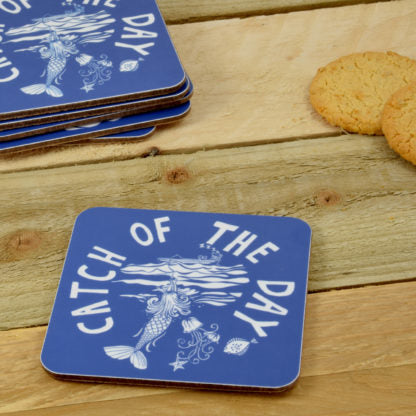 Port and Lemon Blue & White Coasters