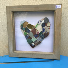 Rosey Reed Medium (18cm) Box Frames - sea glass & pebble pictures