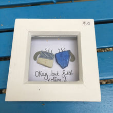 Rosey Reed Small Box Frames - sea glass & pebble pictures
