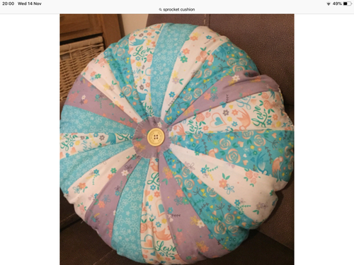 Sewing a Sprocket Cushion Cover - 26/1 & 6/2
