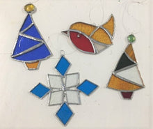 Stained Glass Christmas Decorations - 6/12, 8/12 , 13/12 & 14/12