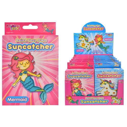 Paint Your Own Mermaid or Unicorn Suncatcher Kits