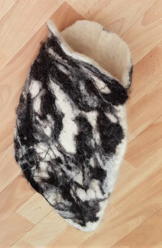 Wet Felting Slippers  or a Hot Water Bottle Cover - 28/11