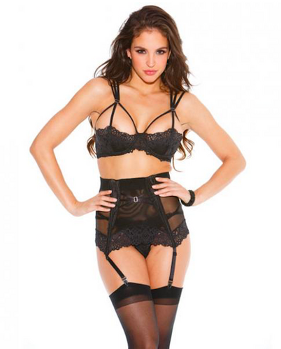 Lace Mesh High Waisted Garter