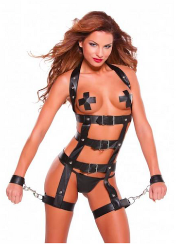 Faux Leather Harness