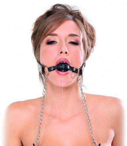 Deluxe Ball Gag and Nipple Clams