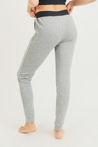 TERRY COTTON SKINNY JOGGERS