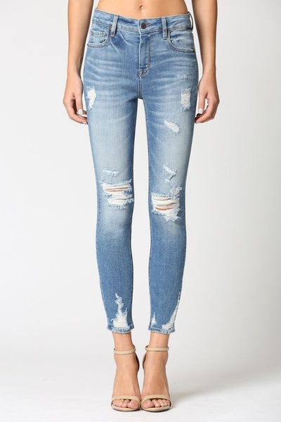 HIDDEN MEDIUM WASH SKINNY JEAN