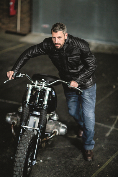 Difi Scrambler Motorcycle Leather Jacket - overview