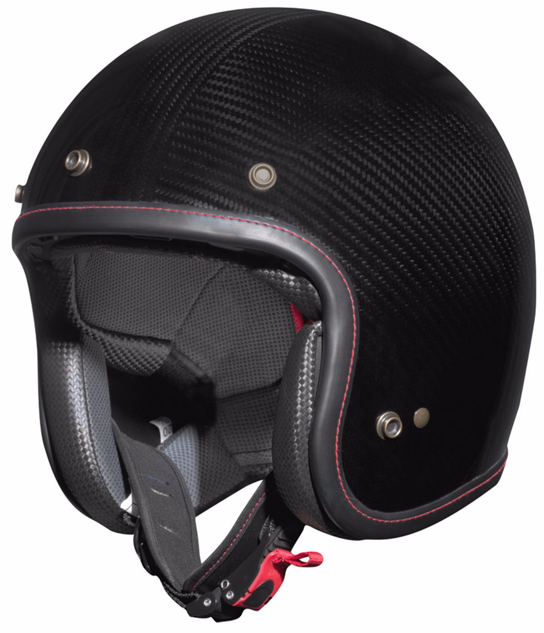 Bayard XC-80 Carbon Open Face Crash Helmet, Moto65.