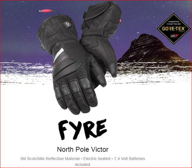 DANE FYRE  GORE-TEX® Hybrid Heated Motorcycle Gloves, Moto65.