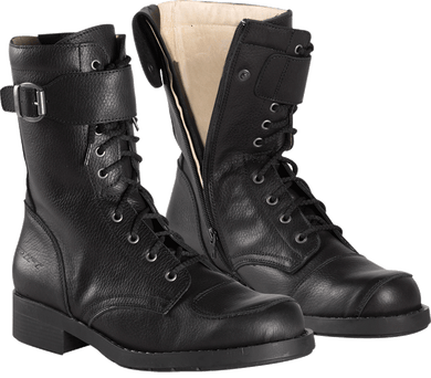Difi Mens Leather Combat Motorcycle Boots, Moto65.