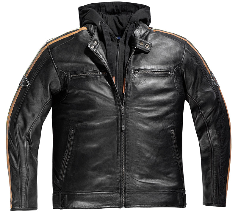 Difi New Orleans Mens Leather Motorcycle Jacket, Moto65.