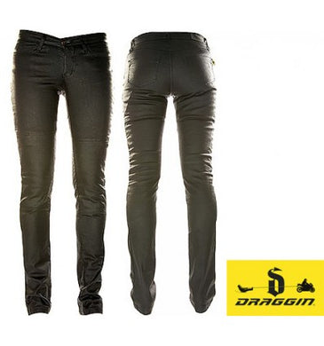 Draggin Slix - The Ultimate in protective jeans for women, Moto65.