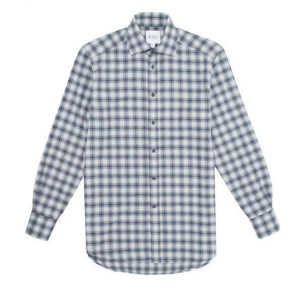 BRUSHED: Grey Plaid