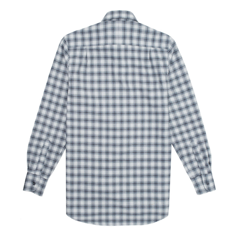 The Boyfriend: Brushed, Grey Plaid - With Nothing Underneath
