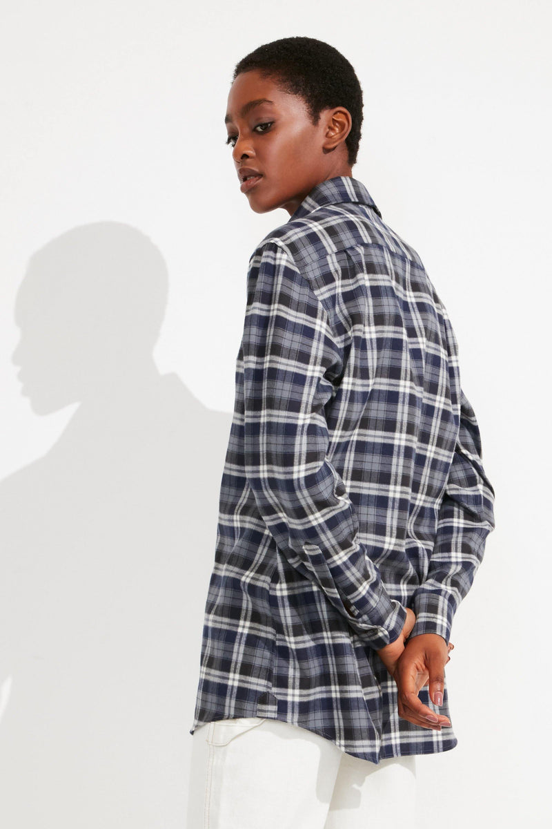 BRUSHED: Navy Plaid