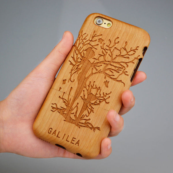 Bamboo Wooden Phone Case: Be Unique (for iPhone) FREE CUSTOMIZED NAME