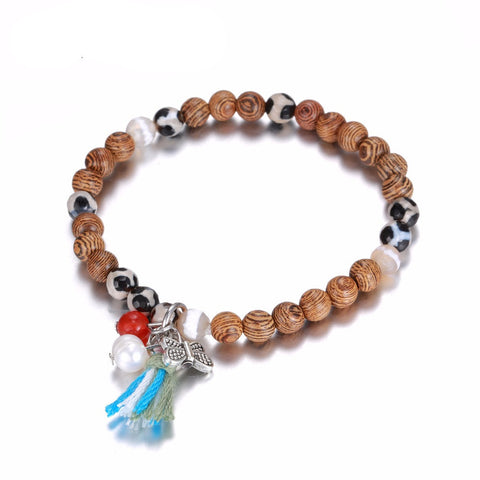 Bracelet: Cherry Wood Charms