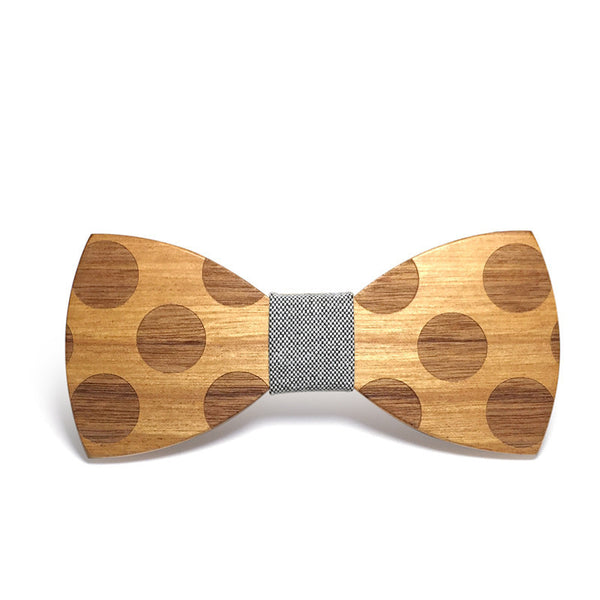 Cheerful Wooden Bow Tie
